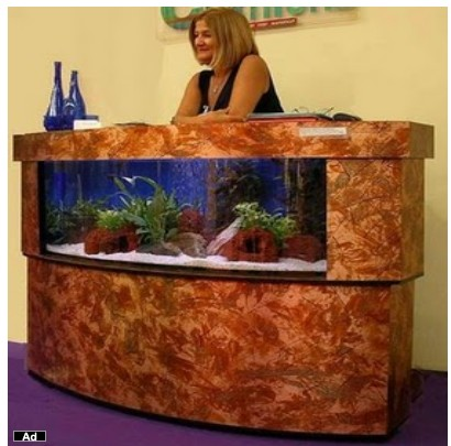 Cute fish tanks kidsaquariumsquotes and more for Fish tank desk